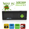 MK809 Android 4.1 Google TV Dongle Dual Core Cortex A9 WiFi 1080P 3D RK3066 android Mini PC free shipping