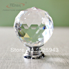 5PCS 30mm Round Clear Crystal Sparkle Diamond Cabinet Knobs And Handles Dresser Drawer Handles Door Knob