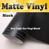 High Quality Black Matte Car Wrap Vinyl Film Matte Black Vinyl Wrap Matt Black Wrap Air Free Vehicle Wraps Size:1.52*30m/Roll