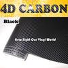 High Quality Super Black 4D Carbon Fiber Vinyl Wrap Black 4D Carbon Fiber Film Air Free For Car Wrap Size:1.52*30m/Roll