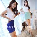 Trend Knitting High quality ! Candy color Packet buttock professional A-line skirt Summer short mini skirt women