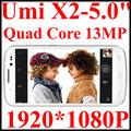 UMI X2 Andriod 4.2 Phone MTK6589 / MTK6589T Quad Core IPS 5.0 Inch Retina Screen 1920x1080 RAM 1/2GB + 16/32GB ROM Gray & White