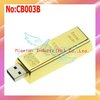 Free shipping wholesale 1GB/2GB/4GB/8GB/16GB/32GB/64GB Gold USB Flash Drive With 2 year warranty #CB003B
