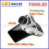 TOP selling F900 Car dvr camera full HD 1080P 120 degree lens 2.5 inch screen night vision  F900A  HD  Dash camera DVR recorder