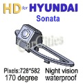 CCD rearview camera170 degree for Hyundai Sonata Waterproof shockproof Night version Size:116.5*31*31.6mm car parking camera