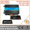 500W DC10.5V~28V AC90V-140V 50Hz/ 60Hz Pure Sine Wave Micro Inverter for 600W PV System solar & wind inverter on grid inverter