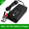 Original 12V Car Battery Charger 12V Lead Acid Charger Motorcycle Charger For SLA, AGM, GEL, VRLA, Charge Mode 4 Stages, MCU Control