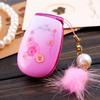 Unlocked W666 Lady Phone w/ Flower Rinestone Music Light Radio Bluetooth Dual Sim Card GSM Mini Girl Phone Gift Russian Keboard