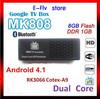 hot sale high quality MK808B Mini PC Android TV stick 4.1 Dual-Core 1.6 GHz RAM 1GB ROM 8GB HDMI 1080P Bluetooth free shipping!