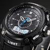 OHSEN Analog Relogio Digital Display Military Alarm Stopwatch Black Silicon Strap Men Quartz Casual Mens Sports Watch / OHS049