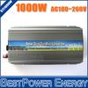 1000W Grid Tie Micro Solar Inverter, On Grid Inverter Pure Sine Wave 1KW 10.5-28V DC to AC 180-260V for 1250W 18V Solar Panel