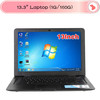 13 inch Ultra thin Cheap laptop computer Intel atom d2500 1.8 netbook win 7 1G RAM 160G HDD notebook pc 6 Cell Battery