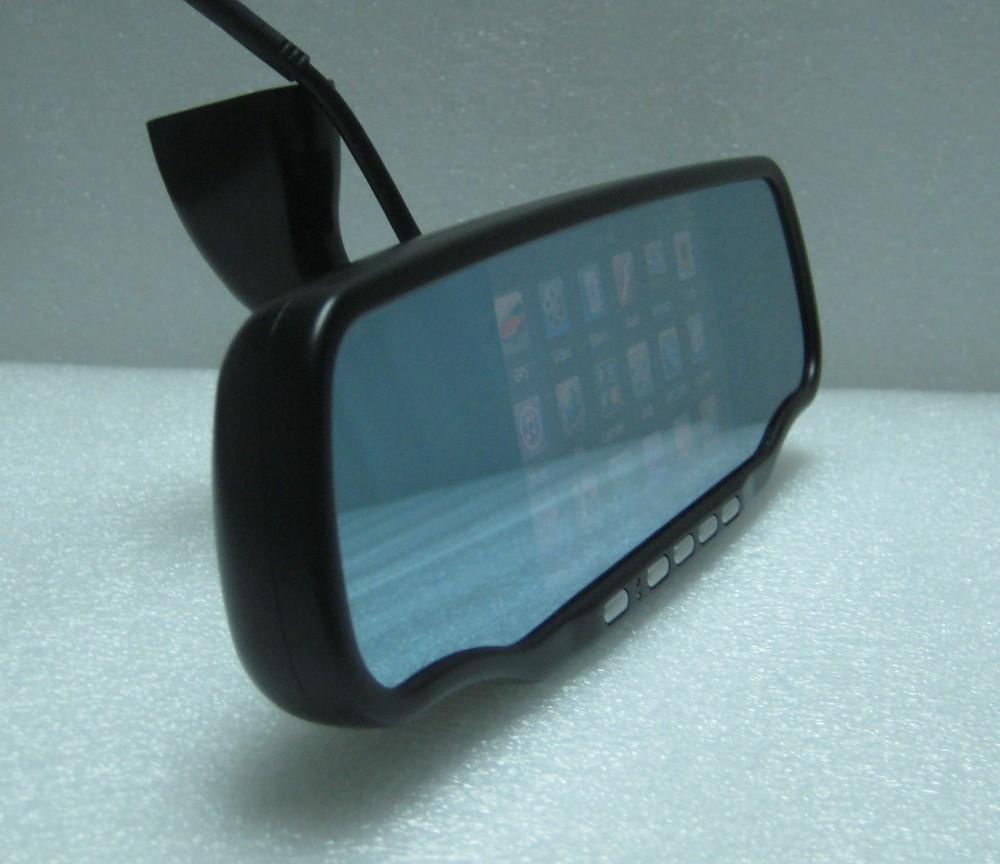 Car Rear View Mirror 5' GPS HD 720P DVR Google Maps Back Up Camera Bluetooth
