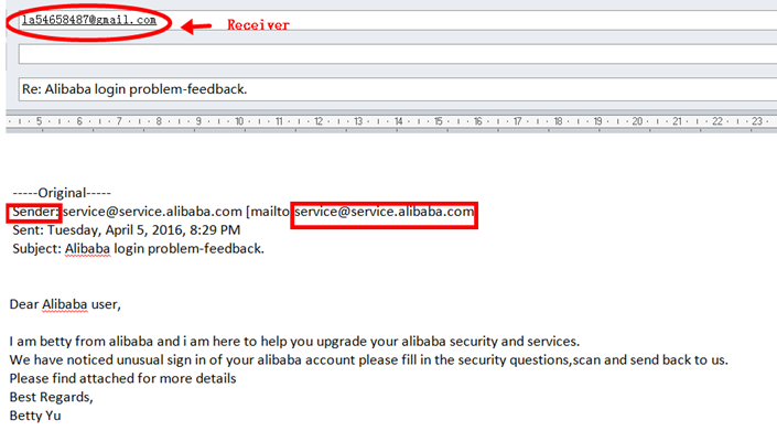 Alibaba com Help Center - Examples of Phishing Emails