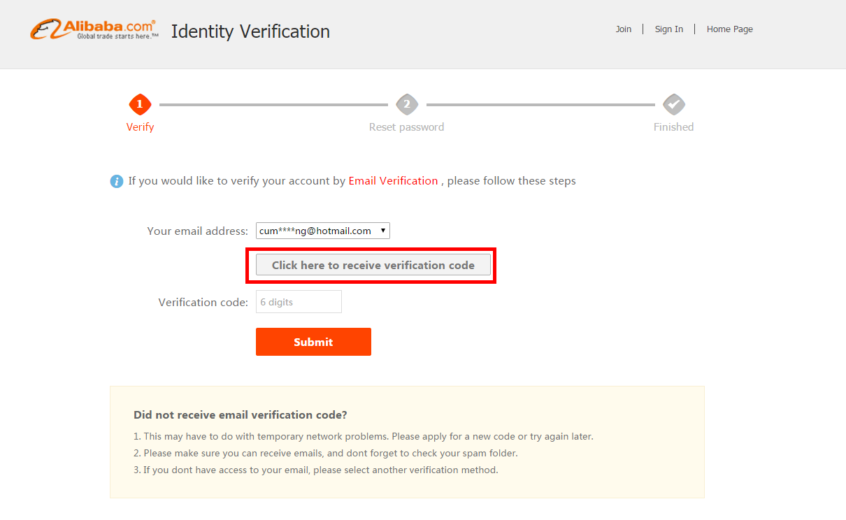 Alibaba com Help Center - Forget ID &