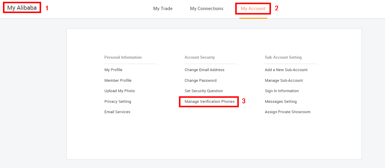 Alibaba com Help Center - How to enable SMS Verification?