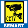 2014 brazil home cctv surveillance security camera sticker warning decal signs
