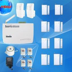 8 Door Sensors Home Alarm Systems GSM Tri Band Frequency SMS Voice Alert Wireless Burglar Auto