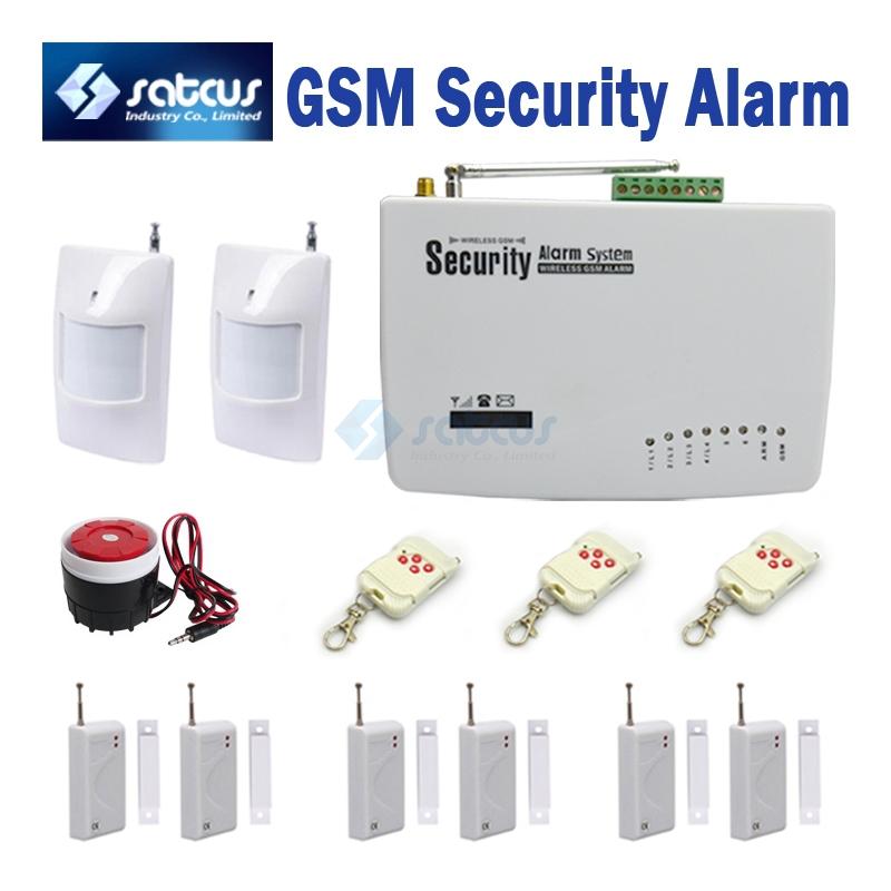 6 Door Sensors GSM Alarm Intelligent Alarm Systems Auto Dial for Home Security Wireless Burglar Alarm